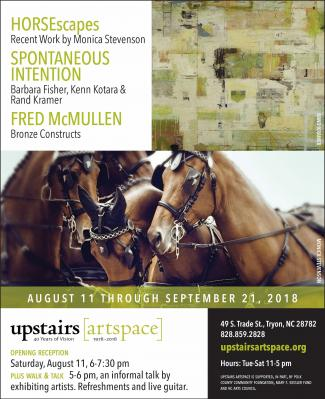 A visit to Tryon's Upstairs Artspace gallery -- or any gallery, for that matter -- affords the visitor a chance to see a clean, final, mounted work of art, such as a framed painting on the wall or a sculpture on a pedestal, in a pristine setting, under br