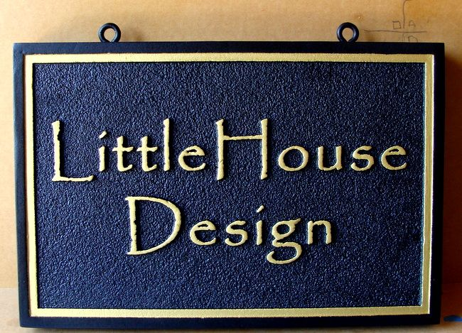 "SA28794 - Sandstone Texture Sign ""Little House Design""  for Interior Design Studio"