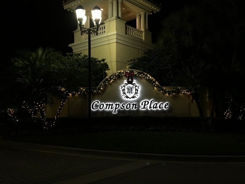 Illuminated Community Monument Sign rebranding - Sign Partners Boca Raton