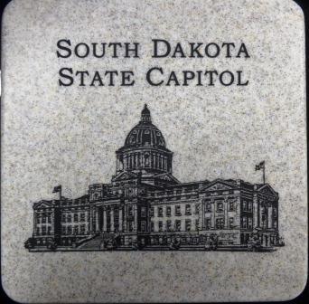 "State Capitol - Stone Trivet 6"""