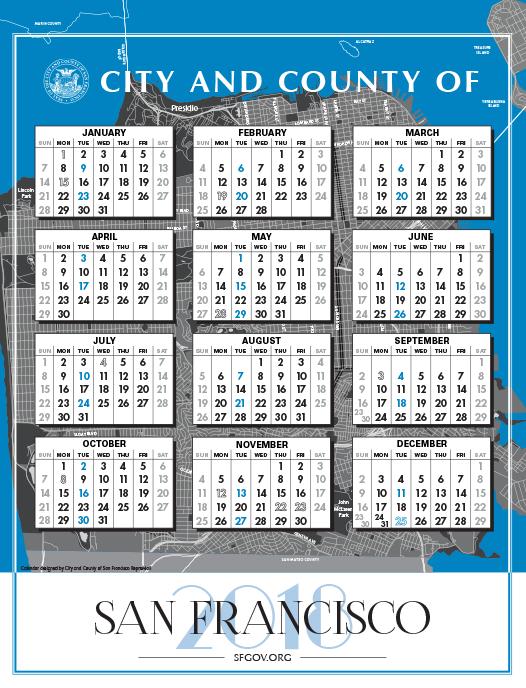 CCSF 2018 City Calendar