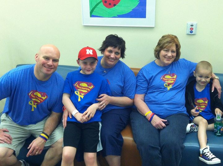 Grandma, PNF's, Sammy shirts and our buddy, Jack! He is doing good so far today!