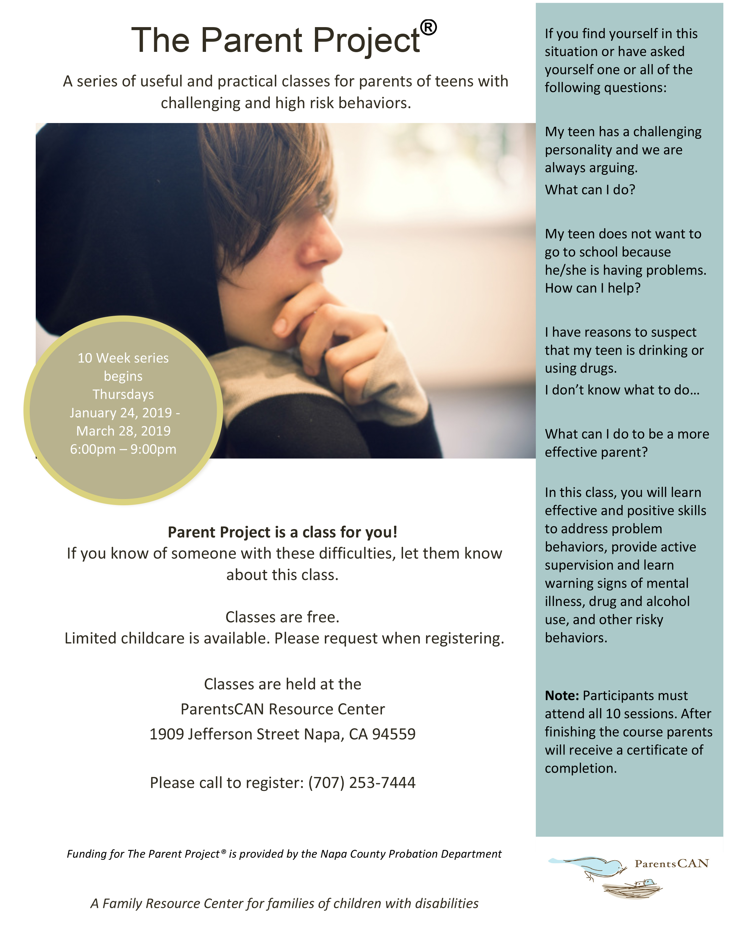 The Parent Project Flyer English