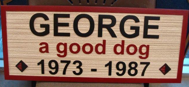 GC16690- Memorial Plaque for a Dog