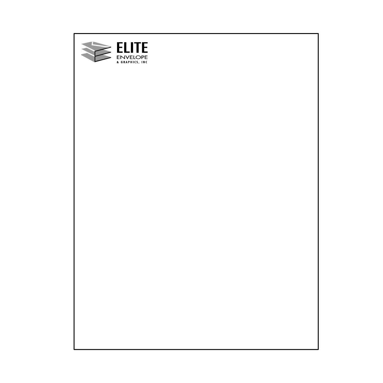 8 1/2 x 11 Letterhead and forms - one color