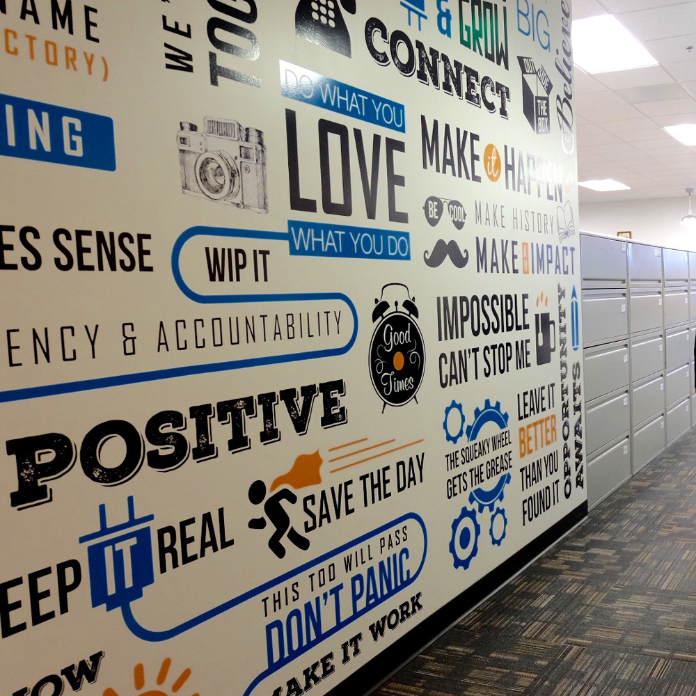 Vinyl Wall Graphics by Master Signs powered by Strategic Factory in Owings Mills, Maryland