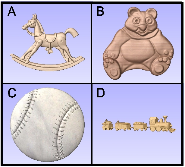 SA28789 - Carved Toy and Sports Store Symbols