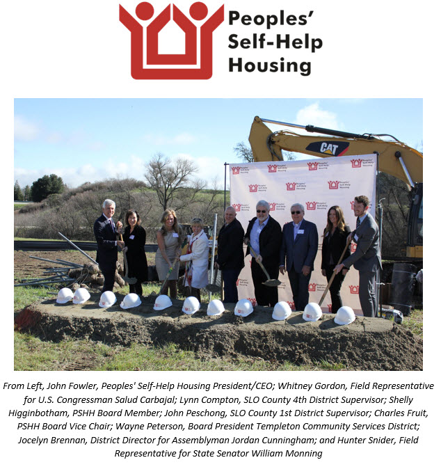 Peoples' Self-Help Housing Breaks Ground on  Affordable Templeton Apartments