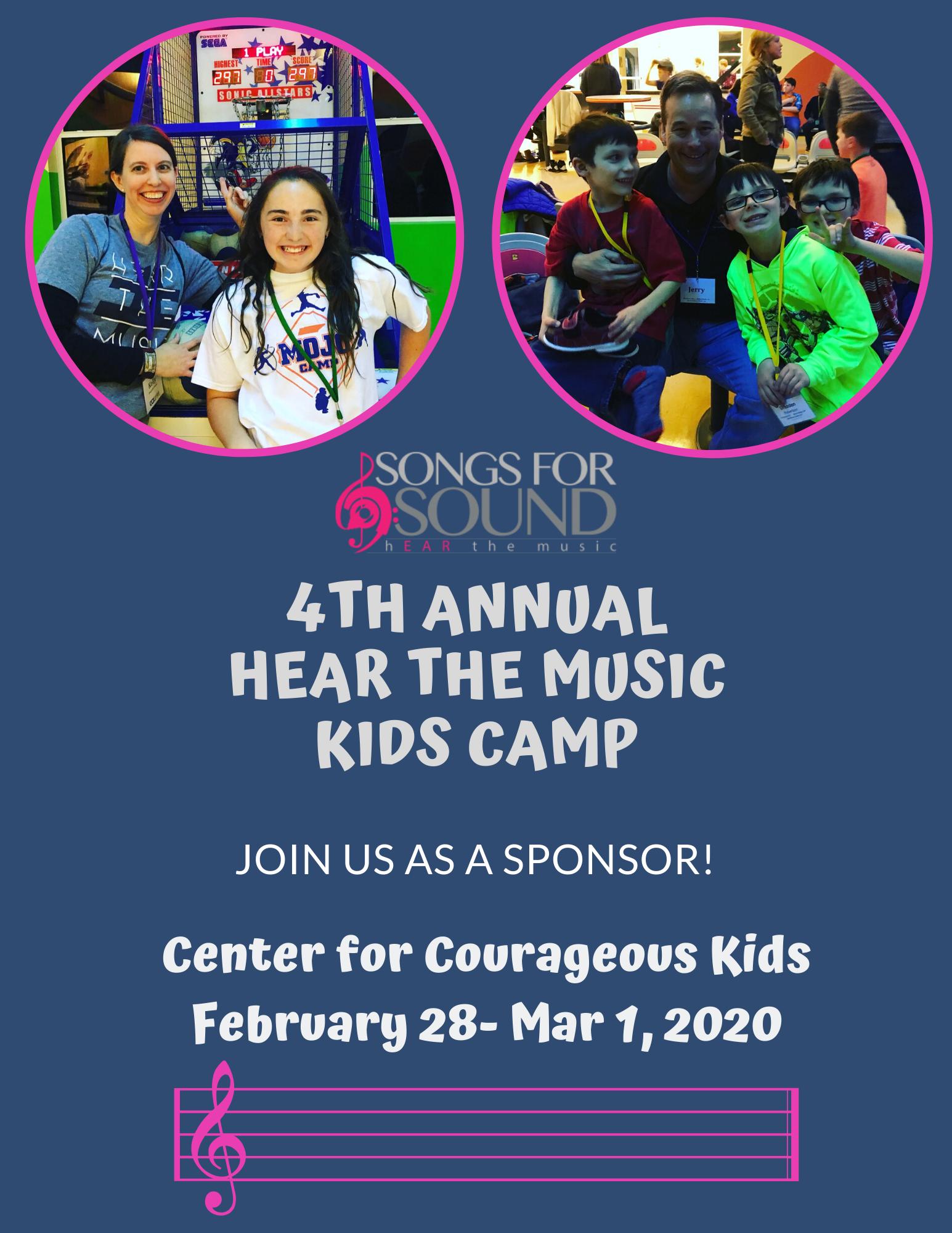 Hear the Music Kids Camp Sponsor Brochure