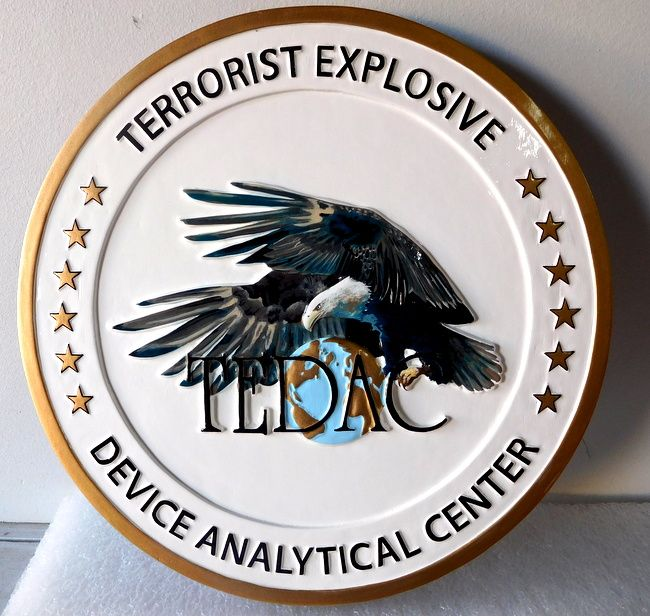 V31163 - Terrorist Explosive National Analytical Center Wall Plaque
