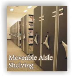 moveable aisle shelving 800-541-2232 Lancer Ltd.