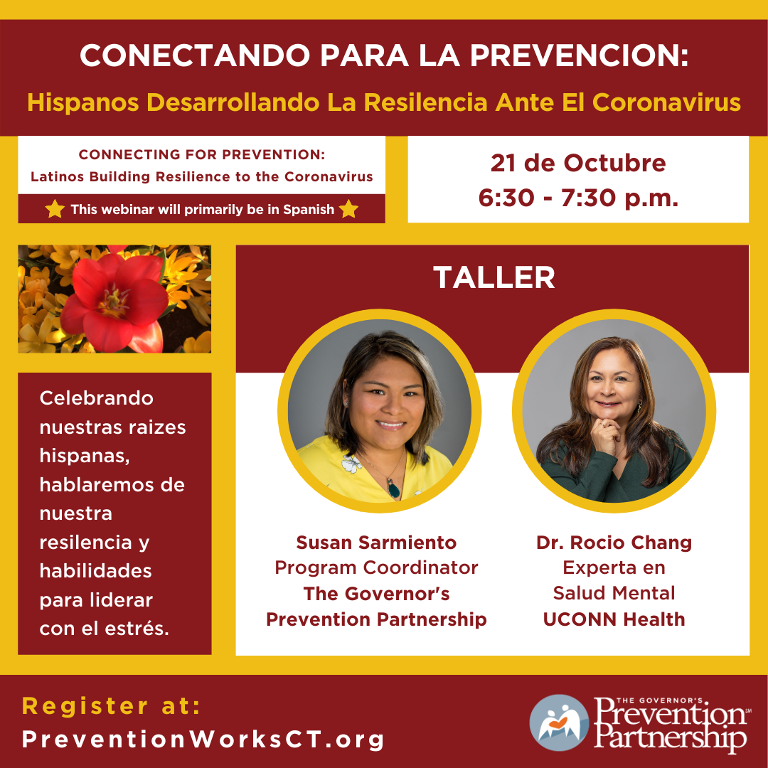 Conectando para la prevencion: Hispanos desarrollando la resilencia ante el Coronavirus