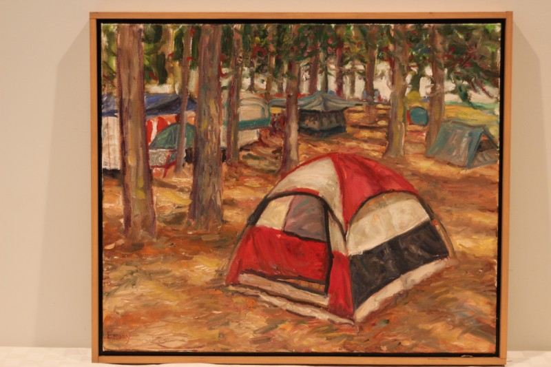 Tent painting - Donated by the artist, Paul Emory