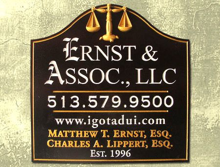 A10128 - Elegant Carved Wood  Attorney Sign