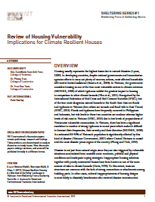 Sheltering Series #1: Review of Housing Vulnerability