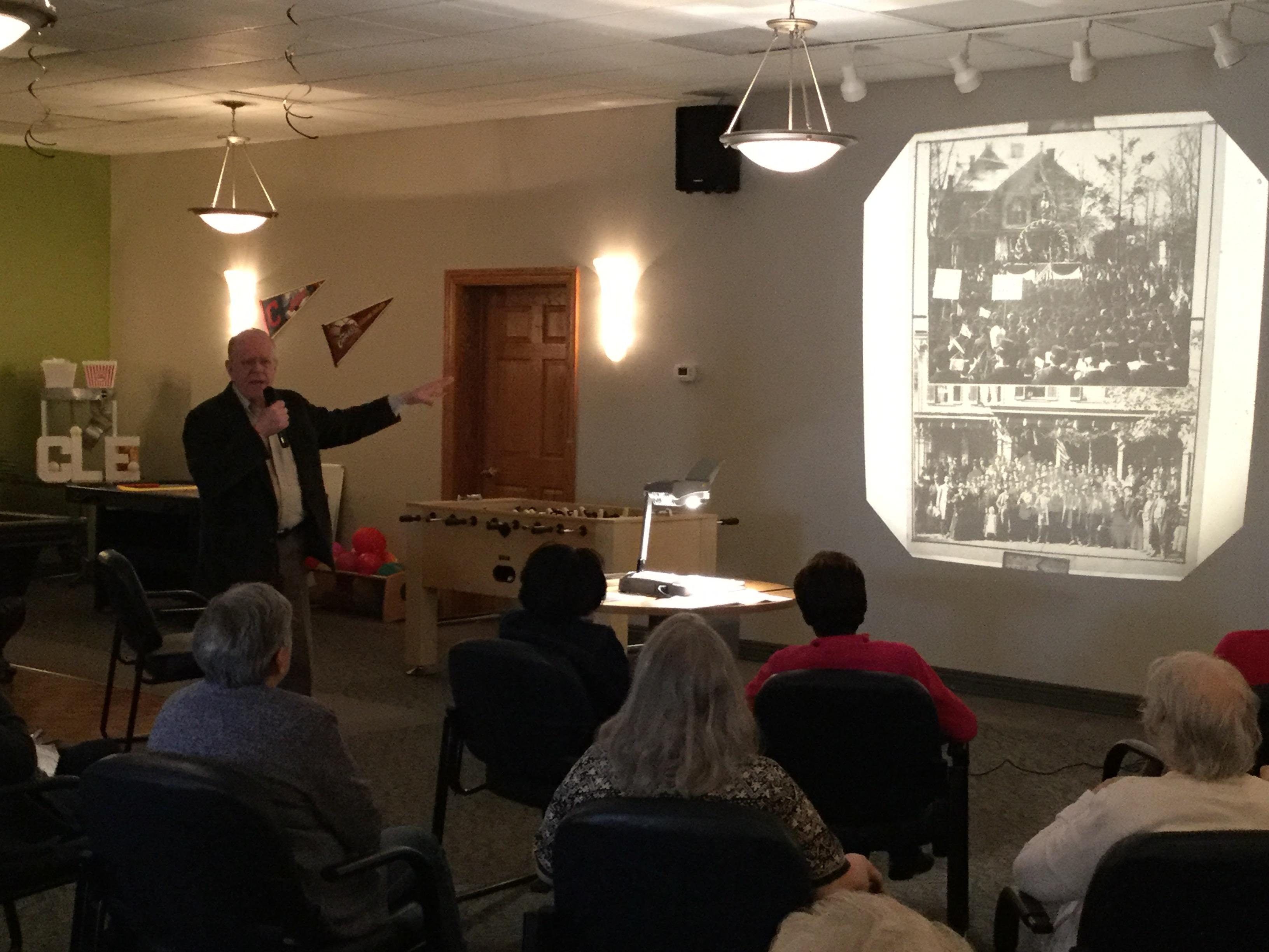 Richard Haldi gives regular programs for our Adult Day Center members