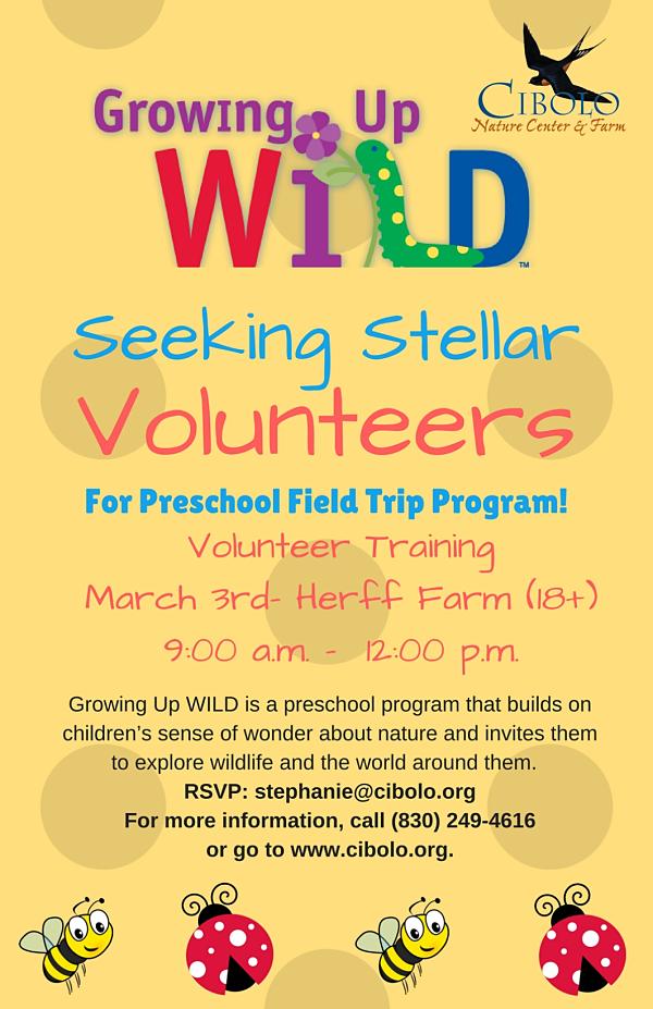 FARM: Growing Up WILD Volunteer Training