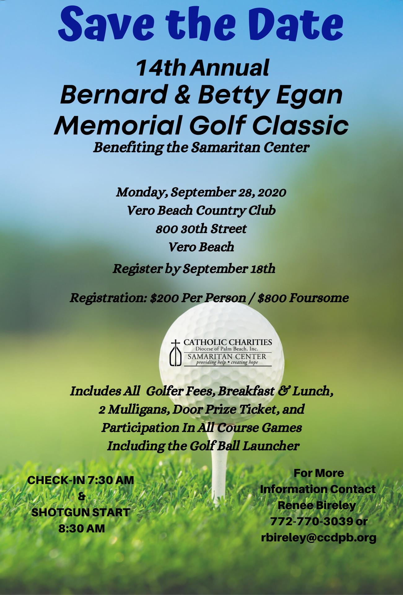 14th Annual Bernard and Betty Egan Memorial Golf Classic