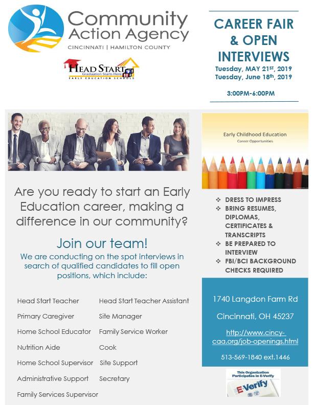 CAA: Career Fair & Open Interviews