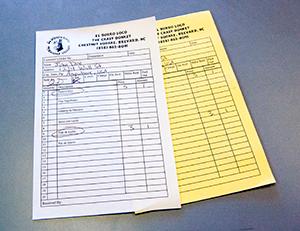 Carbonless Order Form