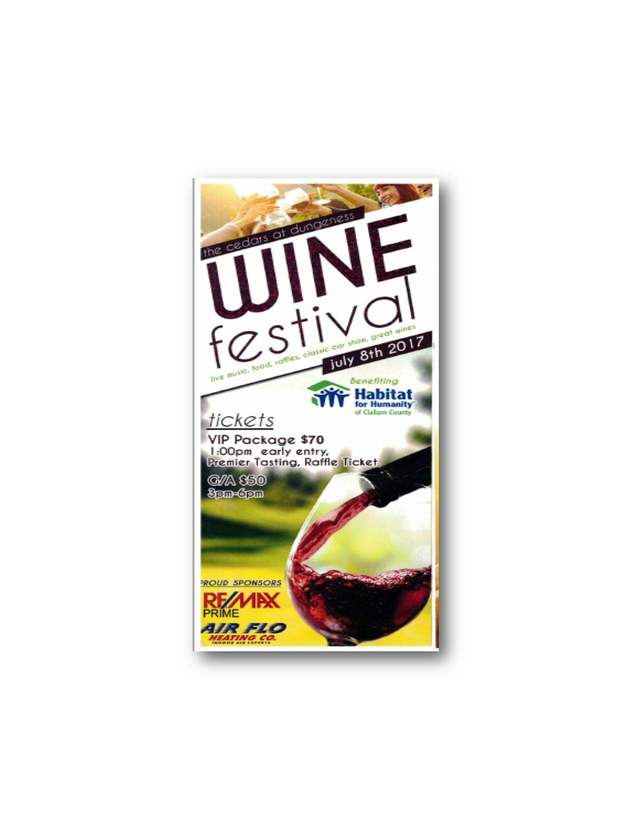 Wine Festival at The Cedars at Dungeness-July 8, 2017
