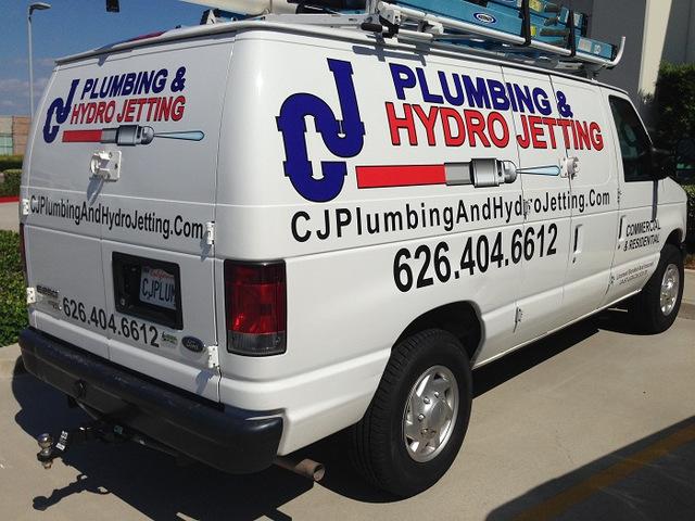 Van graphics for Orange County Contractors