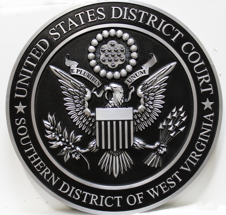 MD4105 - 3-D Plaque of the Seal of the US DistrictCourt, Southern District of West Virginia,