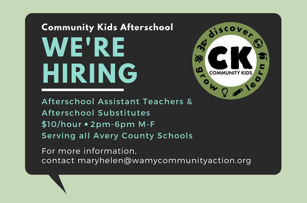 Community Kids Afterschool is hiring!