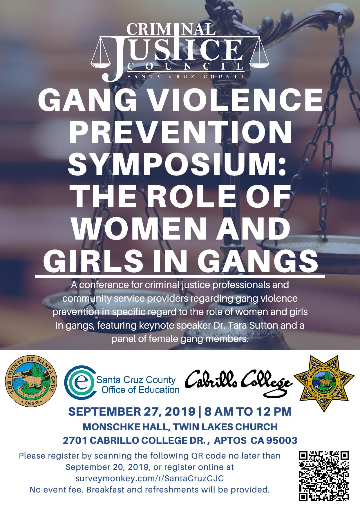 Gang Violence Prevention Symposium: The Role of Women and Girls in Gangs