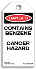 Contains Benzene Danger Tag