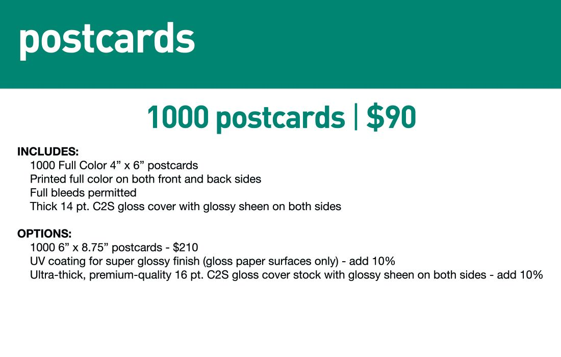 SBB Postcards- Std lead time 5-7 business days