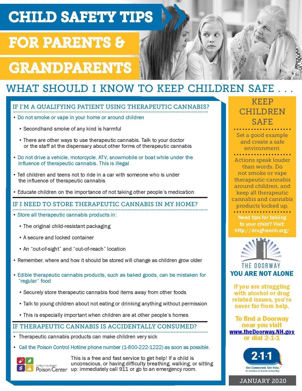 Child Safety Tips for Parents & Grandparents to keep children safe - TherapeuticCannabis Users