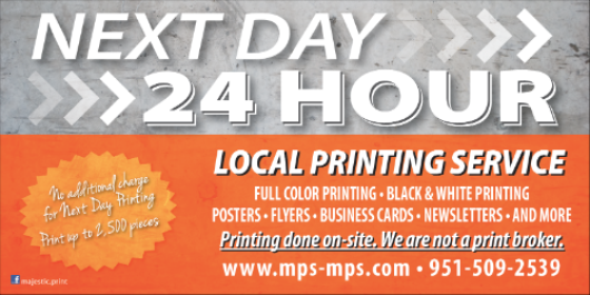 Next Day Printing | Local Printer | Riverside| Corona| Temecula| Los Angeles| Orange County| Ontario, CA