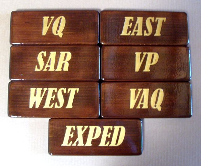 T29222- Rustic Engraved  Redwood Room Name Plaques, with  Gold Paint for Text