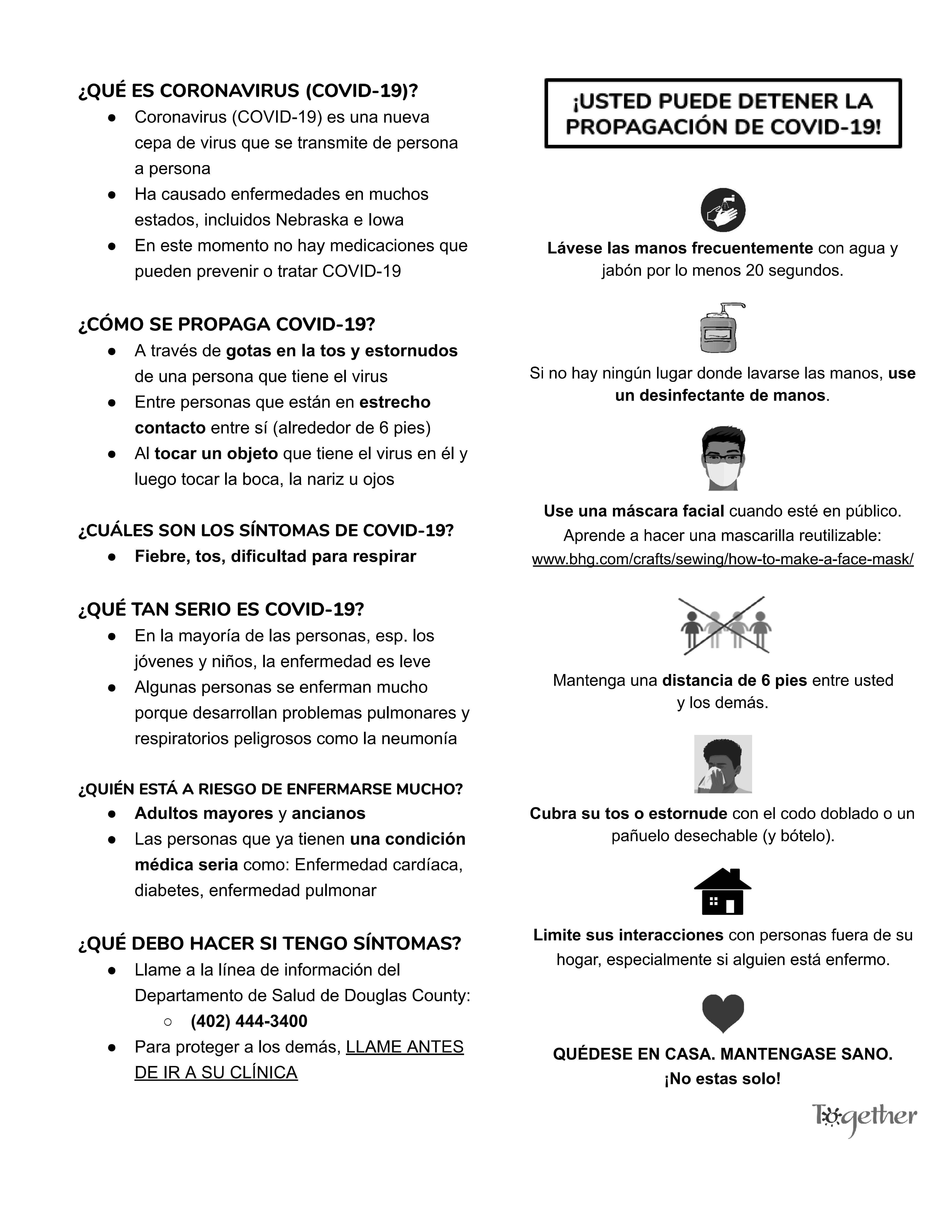 COVID-19 Resource Guide 4 (Spanish)
