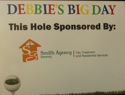 Golf tournament sign