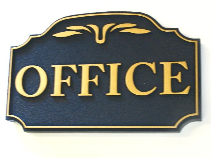 C12231 - Carved HDU Office Sign