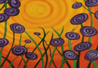 """Painting with Pizazz: """"Flowers"""""""