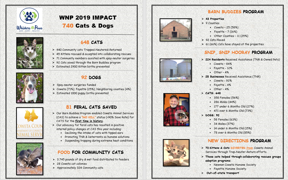 740 Cats & Dogs Helped in 2019