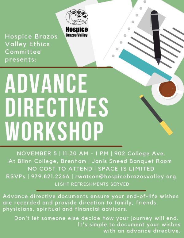 Advance Directive Workshop - Brenham
