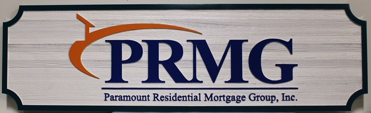 C12232 - Carved Western Red Cedar Cedar Wood sign was made for Paramount  Residential Mortgage Group