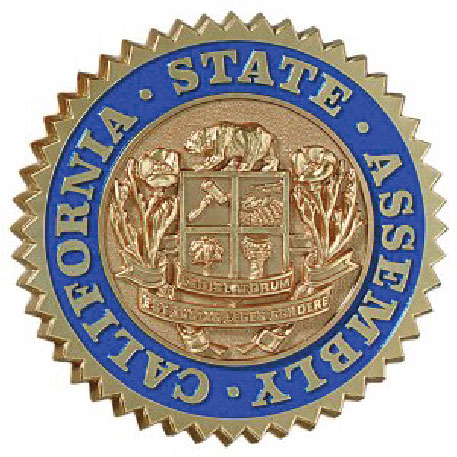 W32055 - California State Assembly Seal, Brass-Coated and Painted