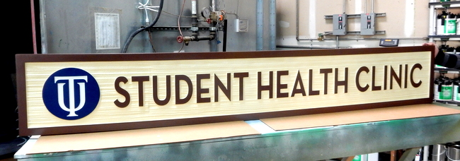 B11010- Large High-Density-Urethane (HDU)  Wall or Monument Sign for Student Health Clinic at a University