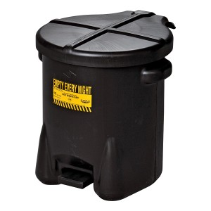 A01MF050  Poly Oily Waste Can - Black