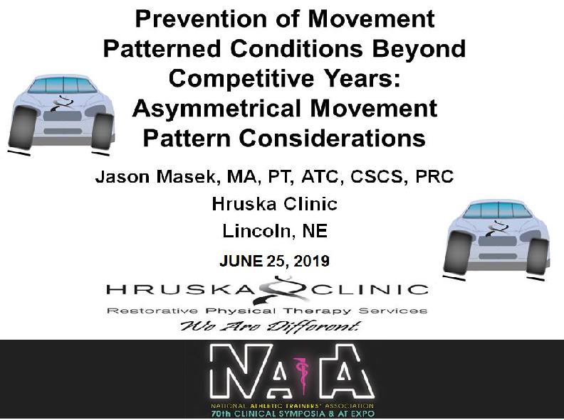 Jason will be presenting at the upcoming NATA convention