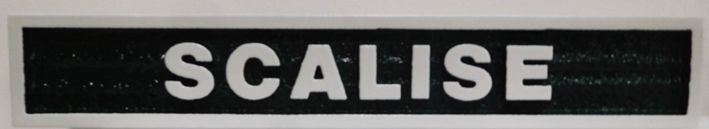 """P25430 - Carved  Horse Stall Sign with Horse Name """"Scalise"""""""
