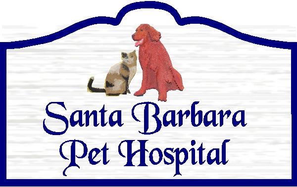 BB11755 – Carved Wood Pet Hospital Sign