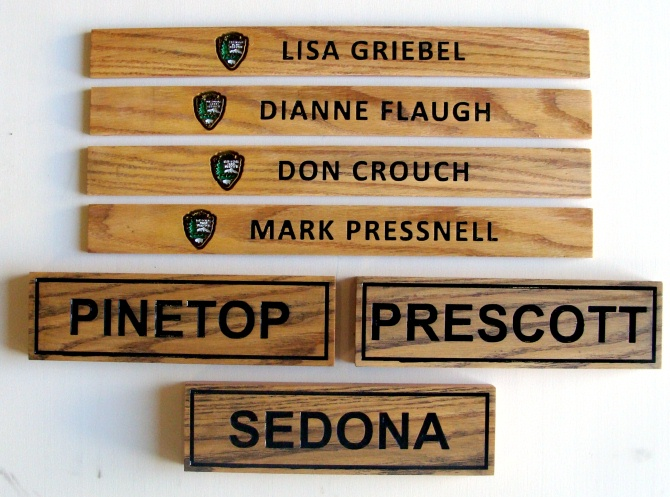 "G16077 - Name Plaques for National Parks and National Park Service Directors with NPS Emblem, the ""Arrow"""