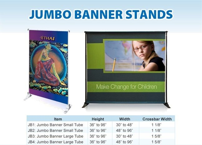 Jumbo Banner Stand 8