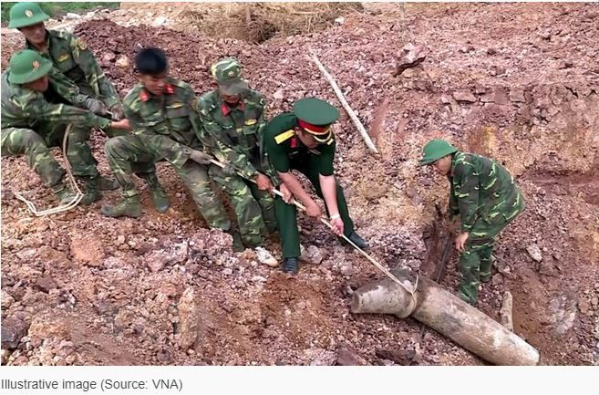 Quang Tri: Over 460 shells safely removed